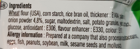 Nongshim Onion Flavoured Rings info